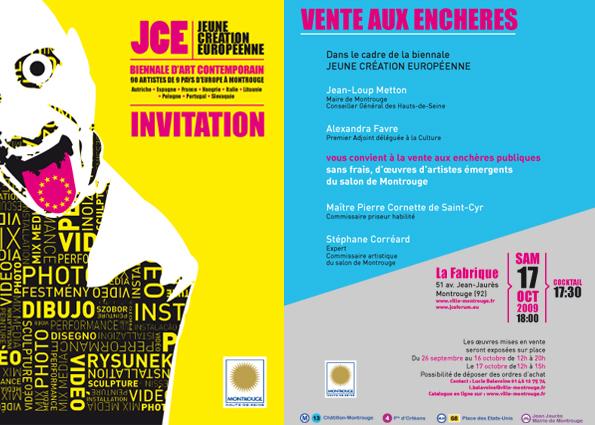 Eve Servent. Expo &Vente aux enchère Biennale Jeune création Européenne. 2009